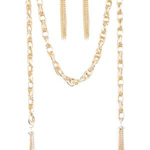 Jewelry - Jewelry - Long Gold Chain Necklace w/ Tassels